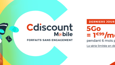forfait mobile 5 Go cdiscount aout