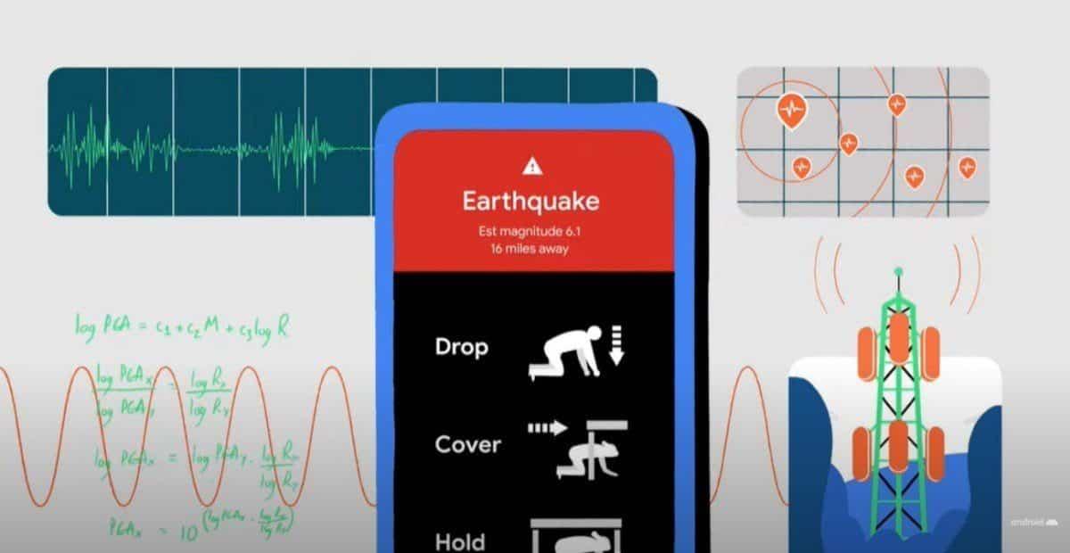 google détection tremblement de terre