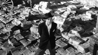 Orson Welles dans le rôle de Charles Foster Kane dans Citizen Kane