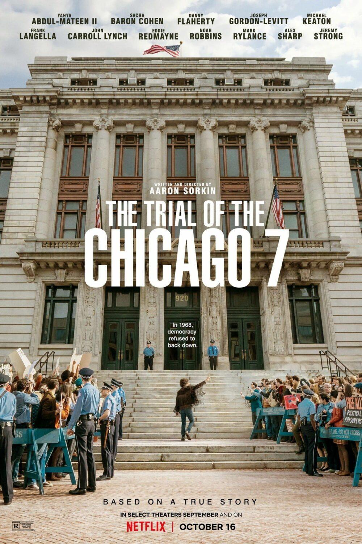 Affiche originale du film Les Sept de Chicago de Aaron Sorkin