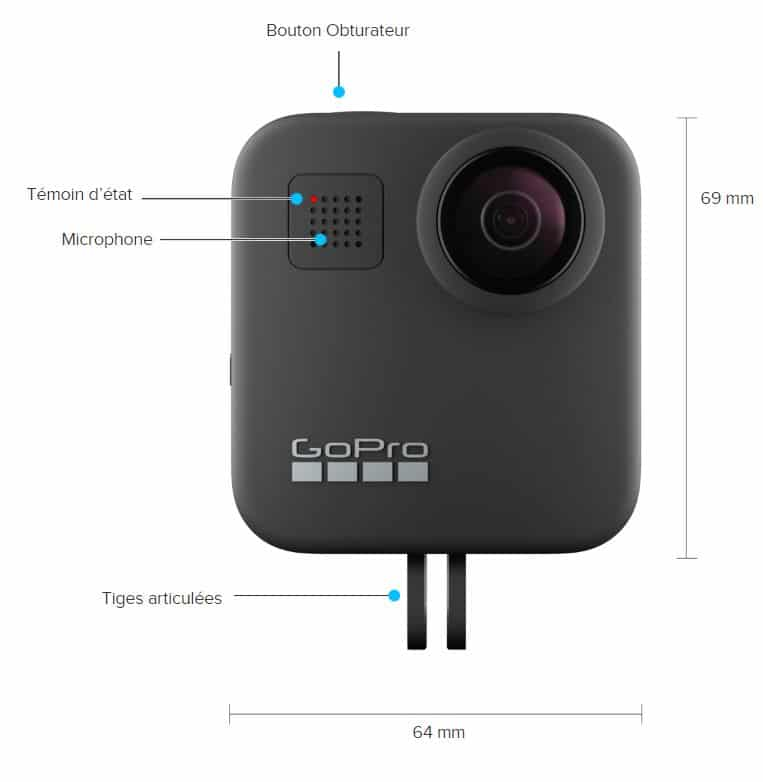 Visuel GoPro Hero Max face