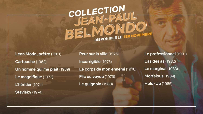 Liste des films de la collection Jean-Paul Belmondo sur Netflix