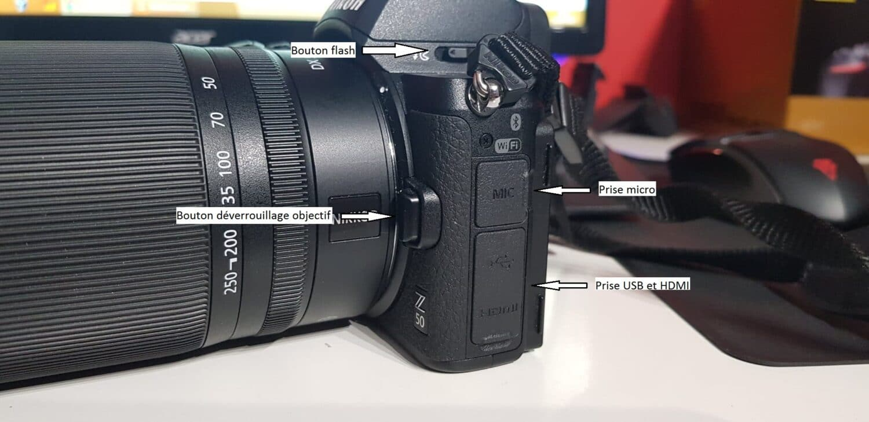 Nikon Z50 - Côté gauche