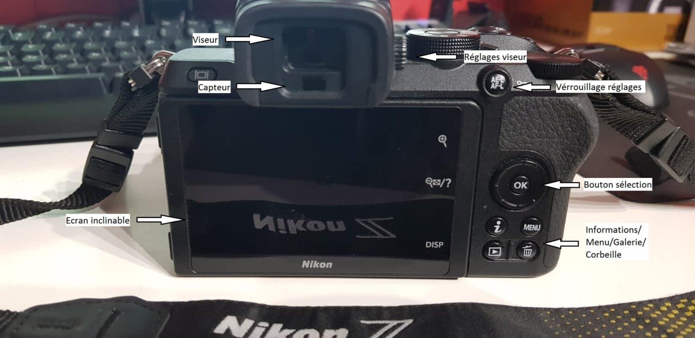 Nikon Z50 - Arrière