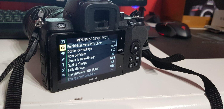 Nikon Z50 - Interface 1