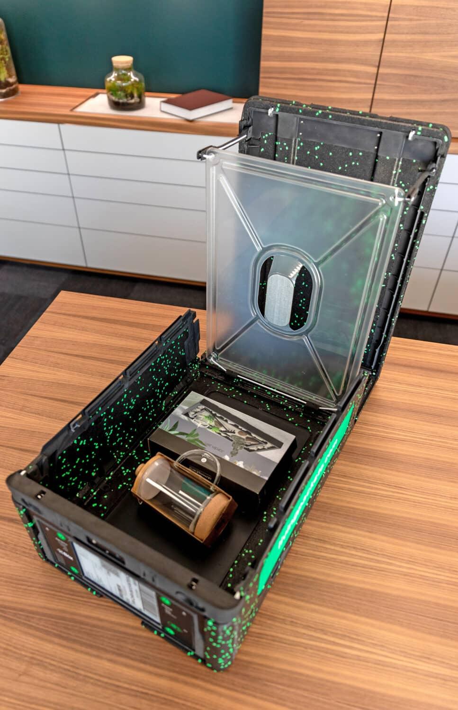 The Box Livingpackets avec des articles à l'intérieur