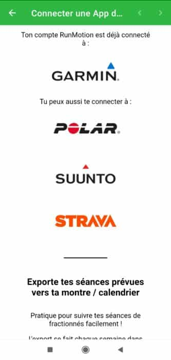 RunMotion coach applications montres