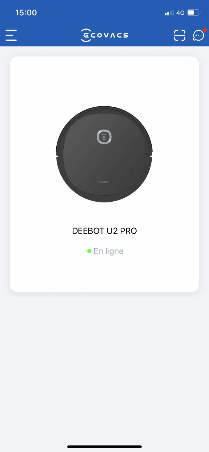 Ecovacs Deebot U2 Pro test application