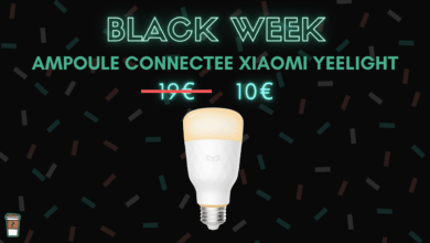 Xiaomi Yeelight ampoule connectee blanche black week bon plan