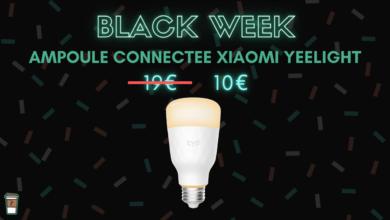 Xiaomi Yeelight ampoule connectee blanche black week bon plan