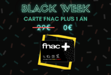 Photo de Carte Fnac + gratuite pour tout retrait en magasin – Black Week