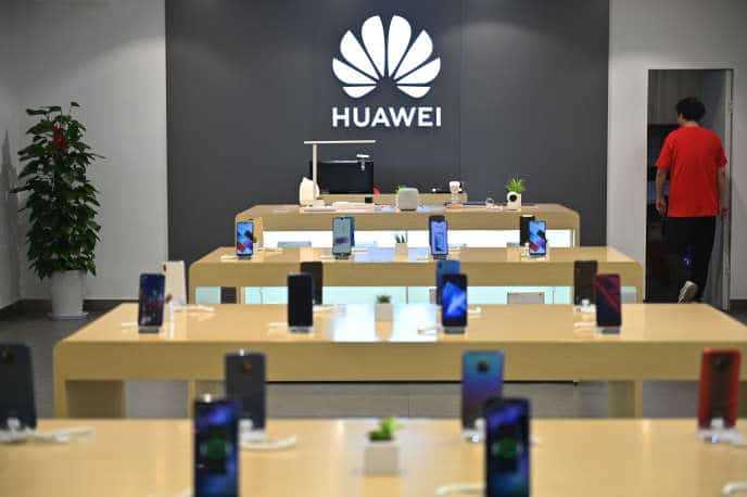 Huawei smartphones vente puce chine