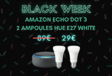 Photo de Amazon Echo Dot 3 + 2 Philips Hue à seulement 29 euros – Black Week