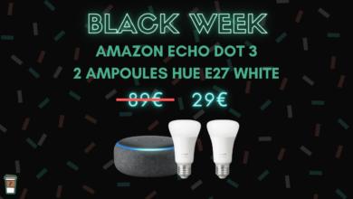 Photo de Amazon Echo Dot 3 + 2 Philips Hue à seulement 29 euros – Black Week
