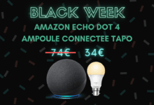 Photo de Pack Amazon Echo Dot 4 + Ampoule connectée Tapo avec 50% de réduction – Black Week