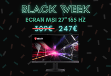Photo de Un écran MSI 27″ 165Hz FHD à -20% chez CDiscount – Black Week