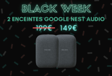 Photo de 50 euros de réduction sur le pack de deux enceintes Google Nest Audio – Black Week
