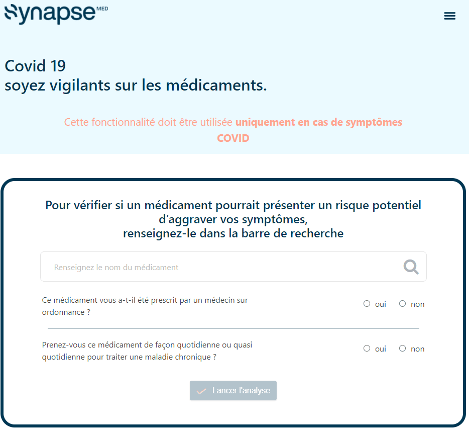 L'application Synapse Medicine