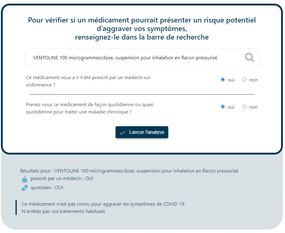 L'application Synapse Medicine en fonctionnement