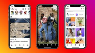 instagram interface nouveaux onglets reels boutique