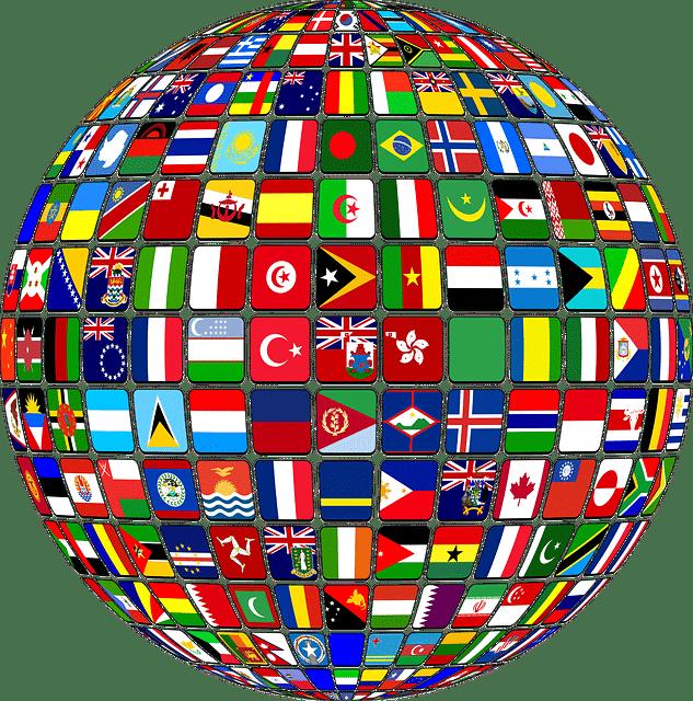 Globe drapeau