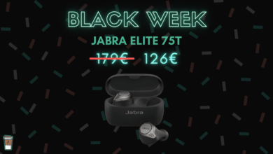 jabra elite 75T black week bon blan