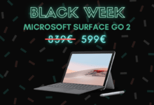 Photo de Pack Microsoft Surface Go 2 + clavier + stylet à 599€ – Black Week
