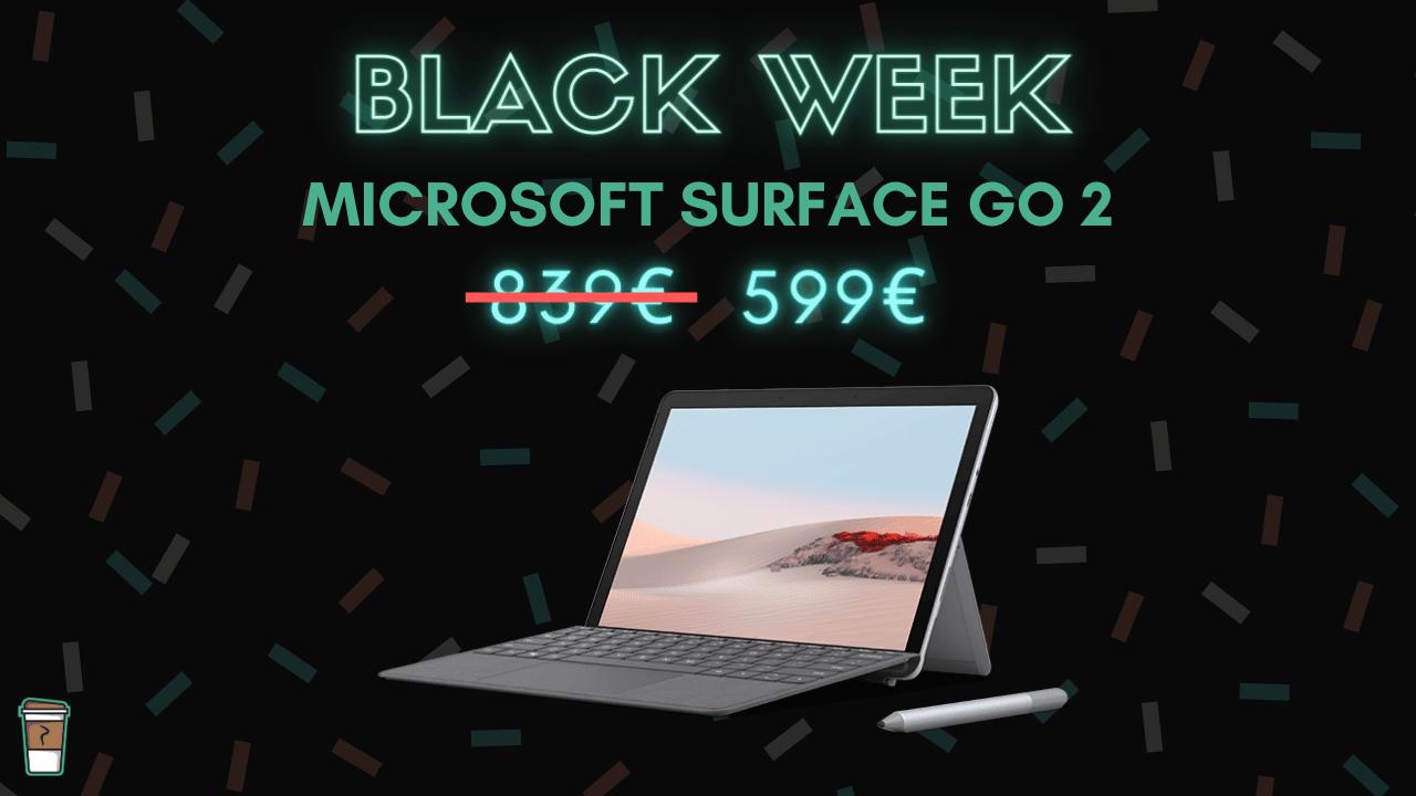 microsoft surface go 2 bon blan black week