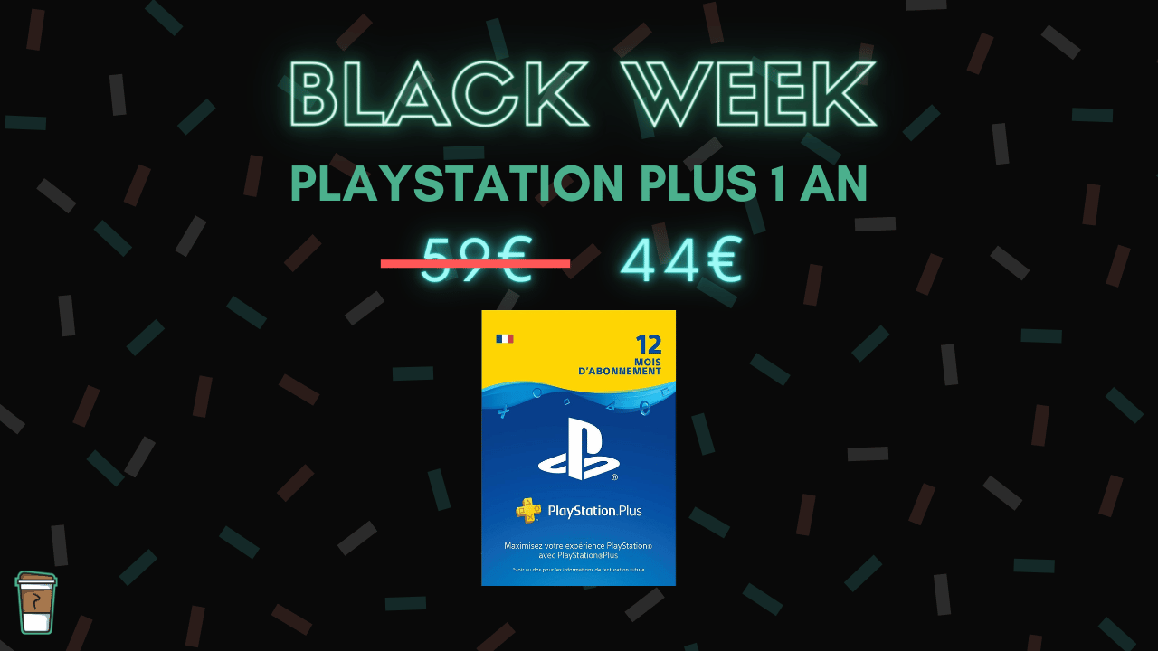 playstation plus abonnement black week bon blan