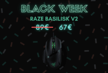 Photo de 26% de réduction sur la souris Razer Basilisk V2 – Black Week