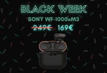 Photo de Économisez 80€ sur les  écouteurs true wireless Sony WF-1000XM3 – Black Week