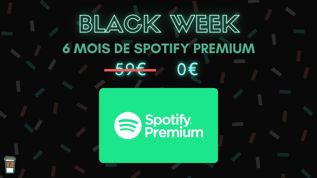 spotify premium cdiscount a volonte bon plan black week