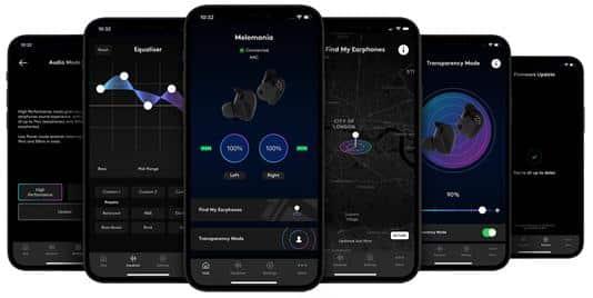 Application qui gère les fonctionnalités des écouteurs