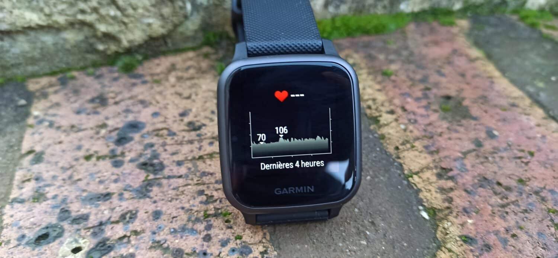 Garmin Venu SQ affichage frequence cardiaque