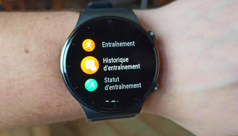 Huawei Watch GT 2 Pro cadran choix d'acticités