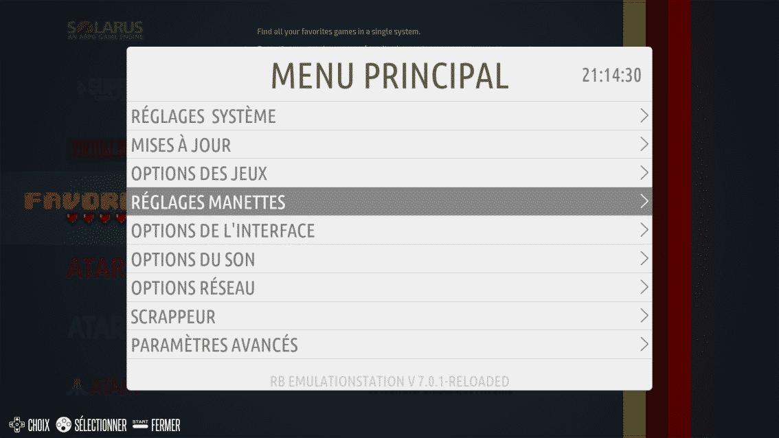 Recalbox menu principal
