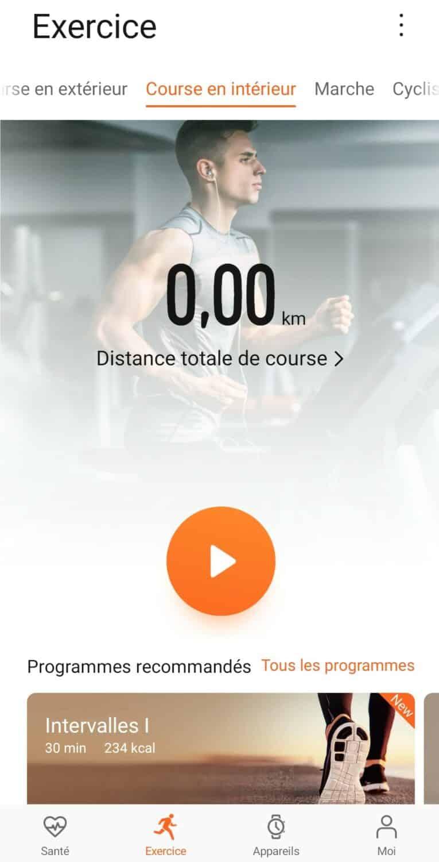 Screenshot huawei health course à pied 1