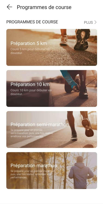 Screenshot huawei health course à pied 2