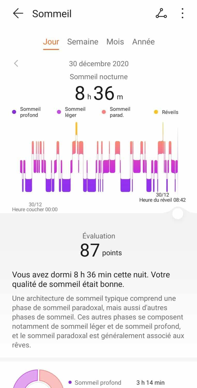 Screenshot huawei health suivi sommeil 1