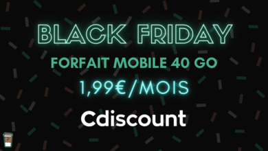 forfait mobile 40 Go prix abordable cdiscount black friday