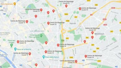 carte depistage covid 19 france google maps