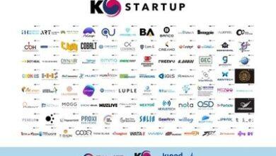 Le pavillon K-Startup installé dans le hall d'exposition en ligne du CES 2021