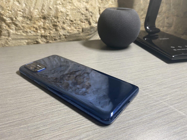 Motorola moto G9 plus dos bleu