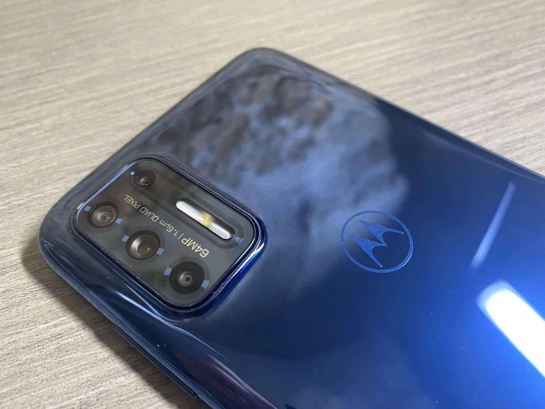 Motorola moto G9 plus capteur photo bleu