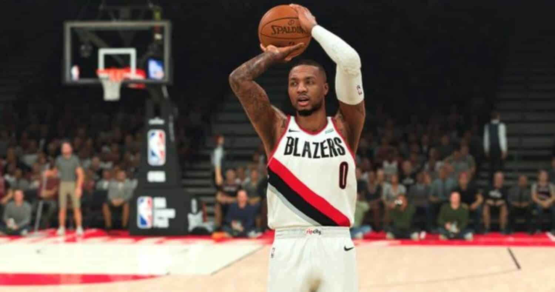 NBA 2K21 shot