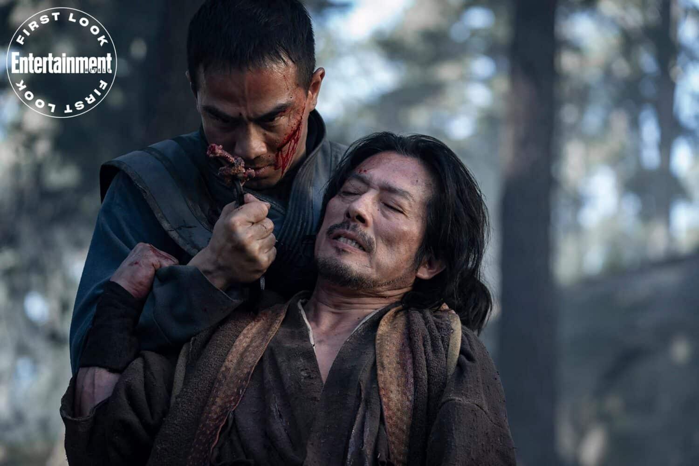 Joe Taslim et Hiroyuki Sanada dans Mortal Kombat (2021)