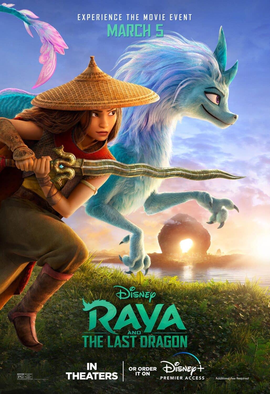 Affiche américaine du film Raya et le dernier dragon (2021)