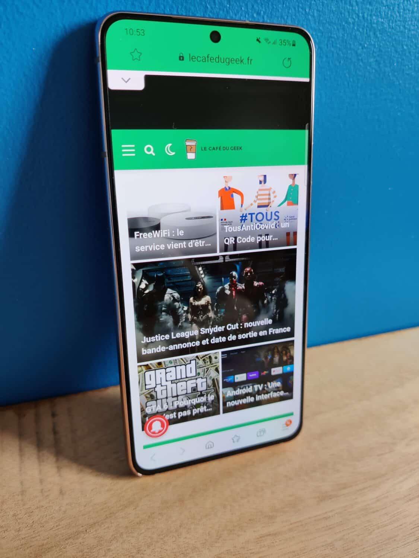 Test - Samsung Galaxy S21 : le petit smartphone qui n'a rien à envier aux grands