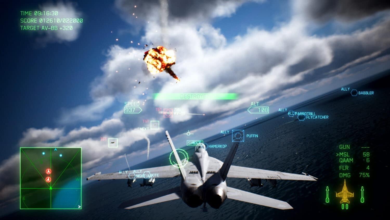 jeux aviation ace combat 7
