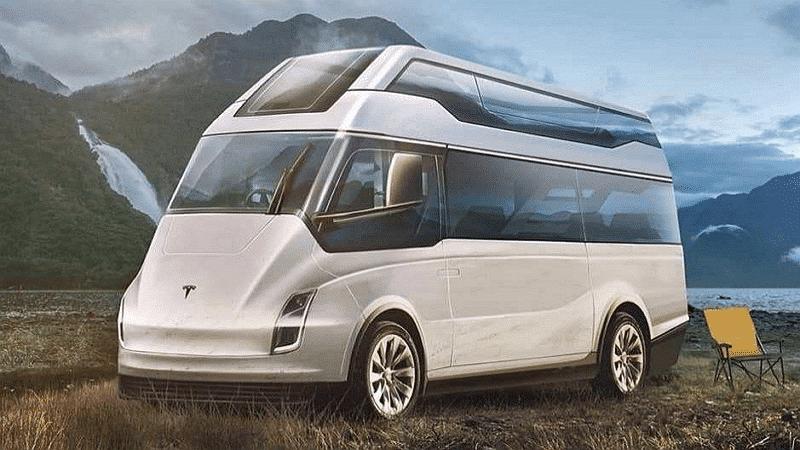 Tesla : un van électrique avec des panneaux solaires sur le toit